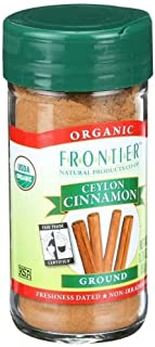 Frontier Natural Products Cinnamon, Ceylon, Ground 1.7600 OZ ( Multi-Pack)