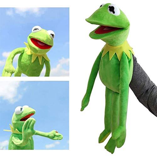 Vcedas Marioneta de Manode Rana Kermit 60cm Sésamo Street Muppet de Peluche Show Mano Muñeca Gustavo Anime Rana Juguete de Felpa de Bebé Animal Juguete Educativo