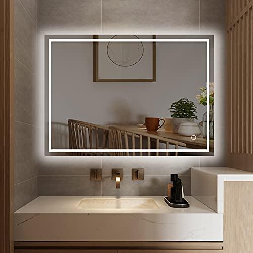 S'bagno Espejo de baño retroiluminado con LED, 500 x 700 mm, con...