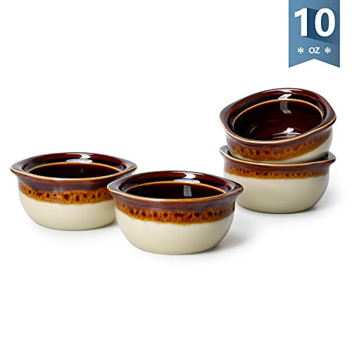 Sweese Porcelain French Onion Soup Crocks, 10 ounces, Set of 4