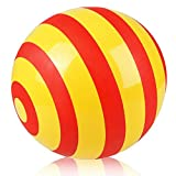 ArtCreativity Striped Vinyl Playground Ball for Kids, Bouncy 15 Inch Kick Ball for Backyard, Park, and Beach Outdoor Fun, Beautiful Colors, Durable Outside Play Toys for Boys and Girls - Sold Deflated