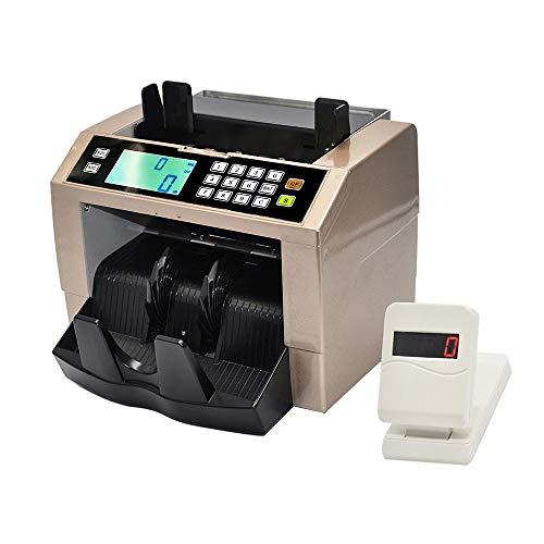 QWERTOUY LCD-Display Automatische bewegliche Bill-Zähler-Maschine Multi-Dollar-Geld Handy-Cash Money Zähler Zählmaschine