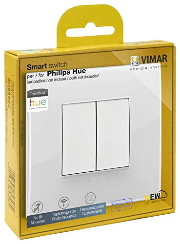 Vimar 0K03906.05 Kit Kabelloser Schalter in Radiofrequenz Philips Friends of Hue Serie Arké Classic Keine Batterien notwendig
