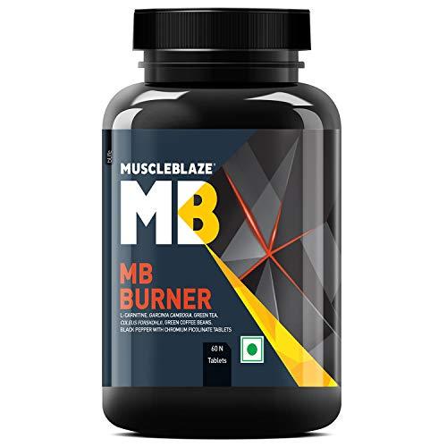 MuscleBlaze Fat Burner, L- Carnitine, Garcinia, Green Tea, Coleus Forskohlii, Green Coffee Bean, Black Pepper with Chromium Picolinate, 60 Tablets