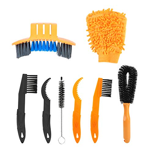 POCREATION Bike Cleaning Brush, Yellow, Convenient, Cleaning Brush, Tidy, Plastic, Daily for Bicycle Cleaning Bicycle Maintenance Household