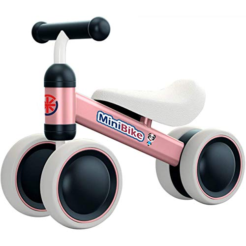 YGJT Bicicletas sin Pedales para niños 1 Año(10-18 Meses) Triciclos Bebes Correpasillos Juguetes Regalos bebé Bici sin Pedales niño (Rosado)