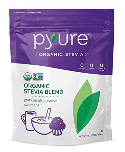 Pyure Organic All-Purpose Stevia Sweetener Blend, Granulated Sugar Substitute, 1 Pound (16 Ounce)