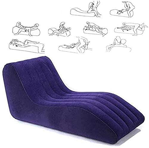 Tragbare Sex Furniture Aufblasbare Sexsofa Sex Stuhl Liebesschaukeln, Sexspiel Für Erwachsene Smatratze Geschlechtsverkehr Sofas Paare Bett-Blau