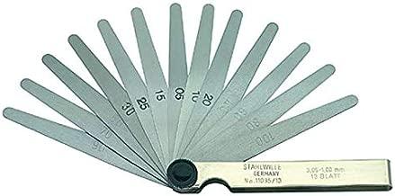 F/ühlerlehre 32 Edelstahlbl/ätter Musikinstrumente. ✮LEBENSLANGE GARANTIE✮-CZ Store/® Zoll und Metriken f/ür Motor Ventile Z/ündkerze Gr/össe 90 MM|doppelte mechanische Pl/ättchen