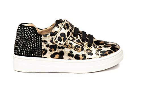 Sneakers da Bimba Liu Jo in Pelle Milk Leo Modello 4F0303EX069-Mini Alicia 501 con Stringhe. Una Calzatura Comoda per Un Look Sempre impeccabile. Collezione Autunno Inverno 2021. EU 28
