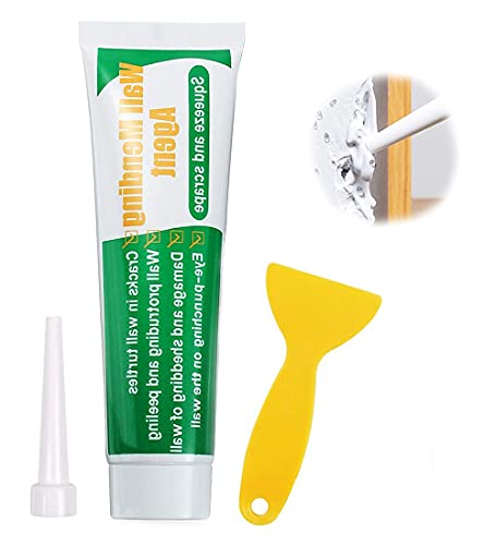 Wall Repair Paste Kit-Drywall Patch, Wall Mending Agent Drywall Repair Putty Quick & Easy to Fill The Holes and Crack, Self-Adhesive Kit for Wall, Wood & Plaster Surface Repair-100g x 1 Pcs