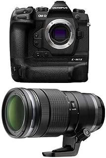 Olympus OM-D E-M1X Mirrorless Digital Camera Body M. Zuiko Digital ED 40-150mm F2.8 Pro Lens, Black