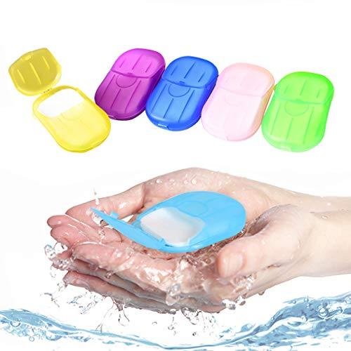 Yidaxing Seife Papier Seifenblätter(300 Tabletten), 15 Boxen Einweg Papier Seife Mini Tragbar Paper Soap für Unterwegs Reisen Camp mit Kunststoffbox