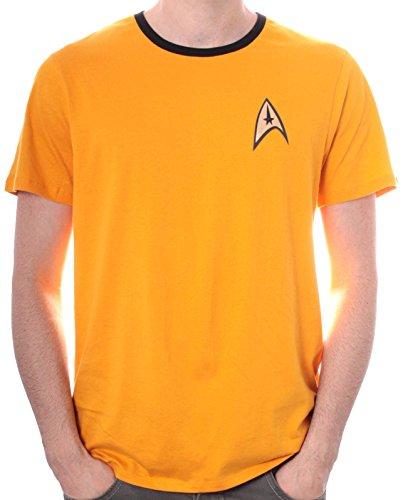 Star Trek Herren Uniforme T-Shirt, Gelb (Jaune), Medium (Herstellergröße: M)