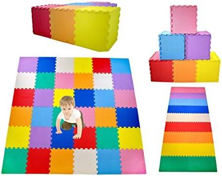KC Cubs Soft Safe Non Toxic Children s Interlocking Multicolor Exercise Puzzle EVA Play Foam product image