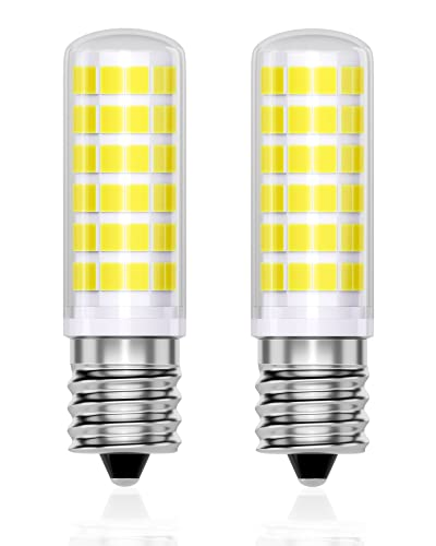 QNINE E14 LED Kaltweiß, ersetzt kühlschranklampe 25W, 30W-40W Glühbirne, 5W, 6000K, 470LM, 2 Stück, Nicht Dimmbar, für Dunstabzughaube/Nähmaschine, 165-265V AC, Weitwinkel 360°