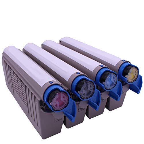 YBCD Cartucho de tóner C862dn, Impresora láser Color Oki MC852 C862dn Compatible, para 44643024 44643023 44643022 44643021 Cartucho de tóner, tóner de Alta Capacidad-All