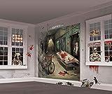 amscan 670357 Asylum Scene Setters | Mega Value | Halloween Wall Decorating Kit 65 x 32 1/2 2 pc, Multicolor