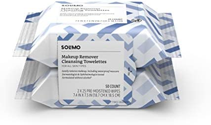 Solimo Make Up Remover Wipes 25ct Pack of 2 product image