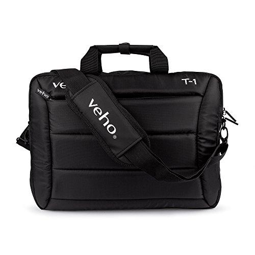 Veho T-1 Laptop Bag wth Shoulder Strap for 15.6' Notebooks/10.1' Tablets – Black (VNB-003-T1)