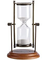 15 Minutos de Metal de Giro de Cristal de Arena de Reloj del Reloj de Reloj de Arena de la Tabla decoración del hogar Decoración