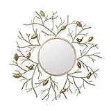 Creativo Espejo De Pared Ático Decoración del Hogar Espejo Decorativo De Pared Espejo Estereoscópico Europeo Hierro Forjado Espejo De Pared Sofá Fondo Mural De Pared Hogar Creativo
