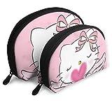 Borsetta da trucco Angel Hello Kitty Borse da viaggio Borsa a conchiglia piccola Borsa da toilette portatile 2Pz