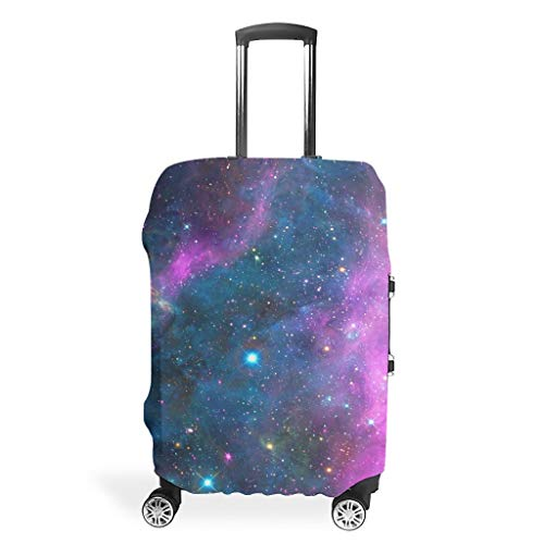 Travel Luggage Case Cover – Universe Elastic Luggage Cover 4 Sizes Fit Protective Luggage, White (White) - BTJC88-scc