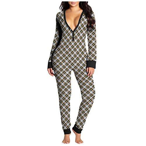 All in One Winter Warm Pyjama Cartoon Einhorn Einteiler Kapuze Nachtwäsche Tier Pyjama für Frauen Gr. Medium, Blue Stitch Pyjama