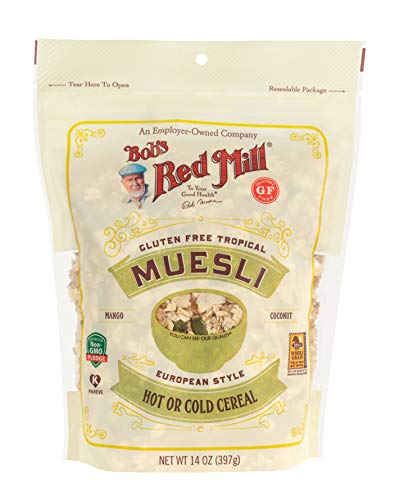 Bob's Red Mill Gluten Free Tropical Muesli, 14 oz (Pack of 4)