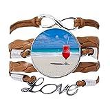 DIYthinker - Pulsera de cuerda con diseño de playa de arena y sandía, ideal como regalo
