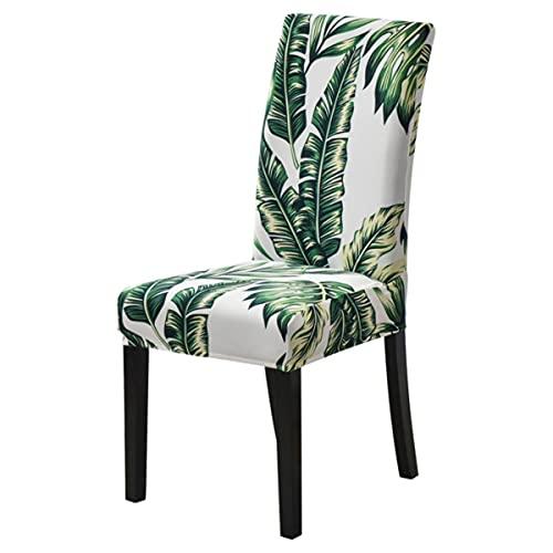 1/2/4/6pcs moderno impreso silla cubierta elástico asiento silla cubre desmontable y lavable estiramiento banquete hotel comedor cubierta hoja estilo D, China, 1 pc