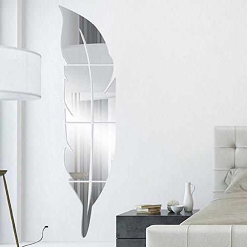 Aiming Espejo Grupo 3D Etiqueta de la Pared de acr/ílico Espejo Adhesivos de Habitaciones DIY la decoraci/ón del hogar del Papel Pintado