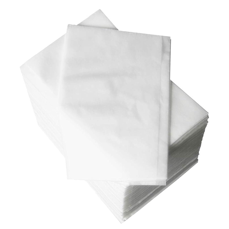 スイス人挑発する先Hellery スパベッドカバー 使い捨て 耐久性 使い捨てベッドシーツ ブルー ホワイト - 白
