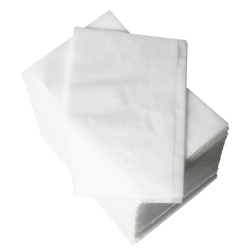 キルト吸収剤株式会社Hellery スパベッドカバー 使い捨て 耐久性 使い捨てベッドシーツ ブルー ホワイト - 白