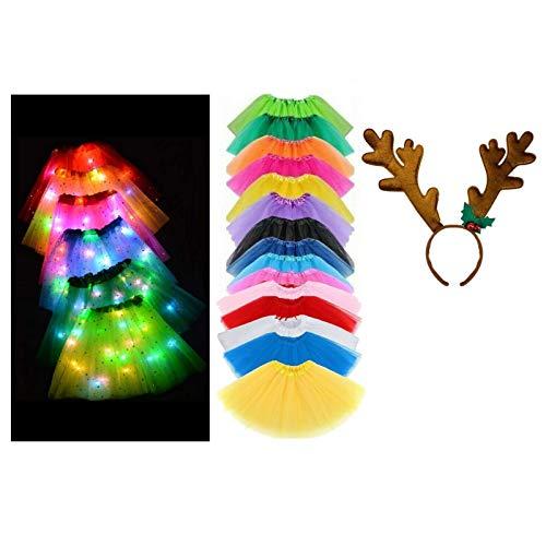 Be-Creative Disfraz de TUTUTUTUTUTUTUU de Navidad para niños (cuernos de reno en la diadema) tutú rojo