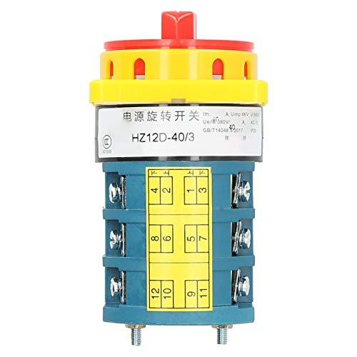 Interruptor de cambio Interruptor de transferencia universal Professional HZ12D ‑ 40/3 380V / 40A para control de circuito