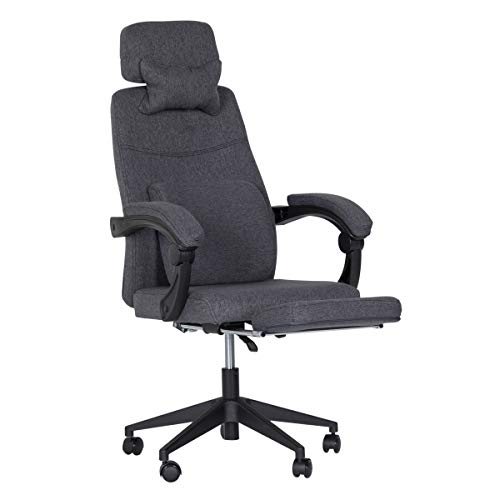 EROMMY Ergonomic Office Chair, High Back Adjustable with Footrest and Headrest Desk Chairs with Flip Up Armrests and Lumbar Support Computer Chair for Conference Room, Dark Gray
