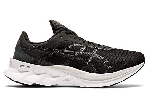 ASICS Men's Novablast Running Shoes, 12.5M, Black/Carrier Grey