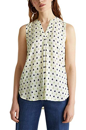 ESPRIT Damen 050EE1F303 Bluse, Off White 4 (113), 38