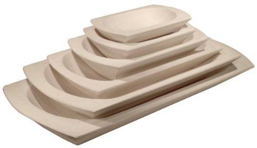 Hofmeister houtwaren houten schaal, mol, nr. 2, 20 x 14 cm, van espenhout en lindehout
