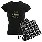 CafePress A Girl Never Outgrows Tinkerbell Pajamas Womens Novelty Cotton Pajama Set, Comfortable PJ Sleepwear
