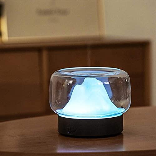 LuoMei Humidificador de Aire Ultrasónico Difusor de Aromaterapia Difusor de Aroma 400Ml Aromaterapia de Aceite Esencial con Lámpara Led Cálida Y de Color Difusor de AromaterapiaGris claro