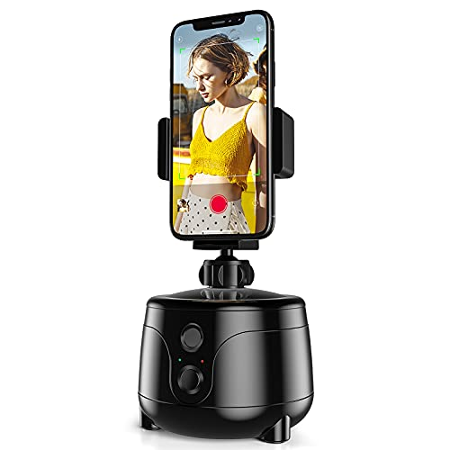 COPLIB Auto Face Object Tracking Phone Holder, Smart Selfie Stick 360° Rotation Tracking Camera Mount, AI Gimbal Personal Robot Cameraman Following Shooting, Portable for Vlog Live Video Record, Black