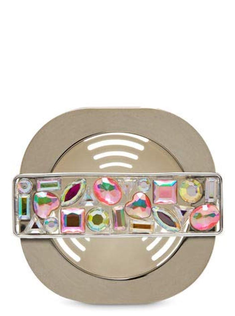 プロフェッショナルポーチ輸送【Bath&Body Works/バス&ボディワークス】 車用芳香剤 セントポータブル ホルダー (本体ケースのみ) モザイクジェム Scentportable Holder Mosaic Gem Vent Clip [並行輸入品]
