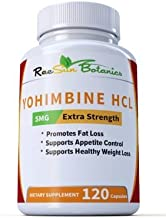 Raesun Botanics Yohimbine HCL Bark Extract Extra Strength Supplement 5mg x 120ct Capsules Premium Fat Burner, Weight Loss,...