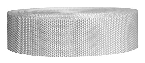 Strapworks Heavyweight Polypropylene Webbing - Heavy Duty Poly Strapping for Outdoor DIY Gear Repair, 1.5 Inch x 10 Yards, White