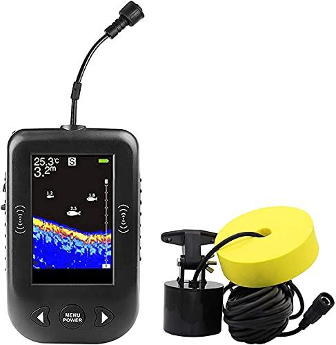 WSVULLD Bote Fish Finder, Pesca Portátil Portátil Portátil Portátil Portátil Portátil Portátil y Pesca Portátil Portátil con GPS para Kayaks y Botes en la Pesca de Hielo de la Costa Finder