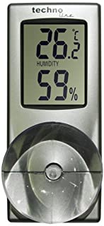 Britta Products Technoline Window Thermometer and Hygrometer (Humidity Measurement)- Suction Attached