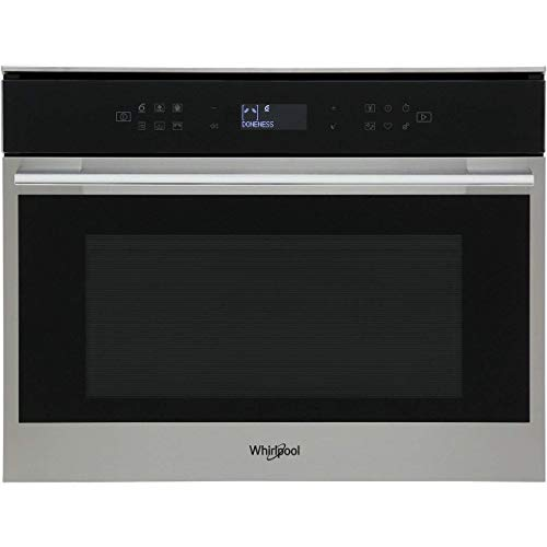Whirlpool W Collection W7 MW461 UK Built-in Microwave, 40L capacity, 900W, Steam cooking, Inox